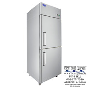 Atosa Mbf8007grl Upright Stainless Divided Door Freezer Top Mount - Warranty -