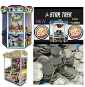 100 Elaut Tokens Dave And Busters Coin Pusher Star Trek Wizard Of Oz Blackbeard