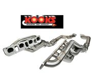 2012-21 Jeep Gc Srt8 Wk2 6.4 392 Kooks 1-7/8and039and039 En-tandecirctes Catted Connexion Tuyaux