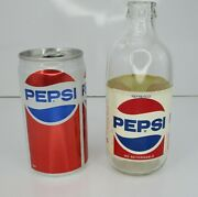 Vintage Pepsi-cola Red White Blue Swirl Bottle Mexico Rare And Jackson Tour Can Us
