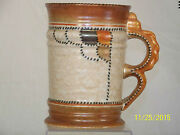 Large Art Deco Crown Ducal Patch And Stitch Tankard Vase
