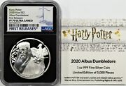 2020 2 Niue 1oz Silver Harry Potter Albus Dumbledore Ngc Pf70 First Releases
