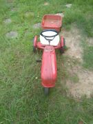 Vintage Midwestern Pedal Tractor With Trailer