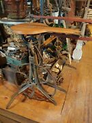 Antique Human Powered Pedal Scroll Saw W F And John Barnes Co. Patent In 1876