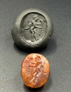 Old Beads Ancient Jewelry Artifacts Antiquities Roman Agate Intaglio Signet Seal