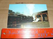 Postcard Train Rr 12 East Broad Top Rockhill Furnace Engine House Turn Table Pa