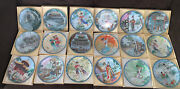 Lot -18 Imperial Jingdezhen Porcelain Collectible Plates Maidens Of The Emperial