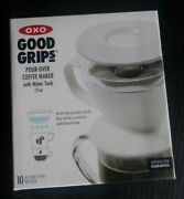 Oxo Good Grips Drip Pour Over Ground Coffee Maker 12 Oz Water Tank And Filters 2