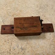 Antique Kw K-w Ignition Spark Coil Hit And Miss Model T Ford Car Truck Wood Box