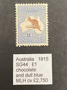 Australia 1915 Sg 44 Andpound1 Roos Mh Stamp