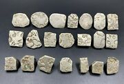 21 Lot Antique India Silver Punch Marked 6th-2nd Bc World Old Coins Antiquities
