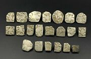 Antique India Silver Punch Marked 6th-2nd C. Bc Ancient Old Coins Antiquities