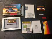 Top Gear Super Nintendo Snes Fully Complete Very Good Tested Works Great