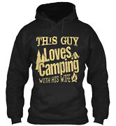 This Guy Loves Camping With His Wife Classic Pullover Hoodie - Poly/cotton Blend