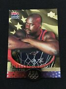 Shaquille Oneal Sp 1996 Team Usa Olympic Insert Die Cut Basketball Card