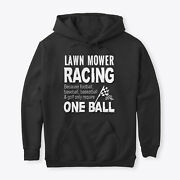 Lawn Mower Racing Classic Pullover Hoodie - Poly/cotton Blend By Atef Braham