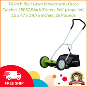 16-inch Reel Lawn Mower With Grass Catcher 25052black/green Self-propelled