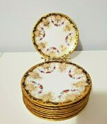 Wedgewood Set Of 10 Bread And Butter Plates -gilded