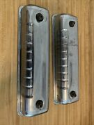 Original Ford 292 312 Y Block V8 Valve Covers Chrome And Mounting Parts Oem