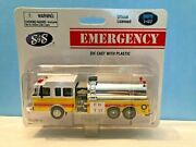 Boley 2201-78 Sands Yellow W/white Top Fire Tanker Truck Retired Authentic Boley