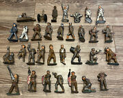 Huge Vintage Soldiers Lead Metal Barclay Manoil Wwii Military And More 30+ Pirces