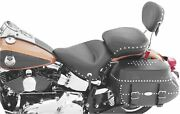 Mustang Wide Studded Super 1-piece Seat Harley Softail Heritage Classic/deluxe