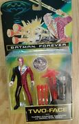 New In Box 1995 Kenner Batman Forever Two-face Action Figure W/cannon And Coin
