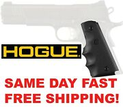 Hogue 1911 Gov Rubber Grip With Finger Grooves 45000 Same Day Fast Free Shipping