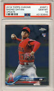 Shohei Ohtani 2018 Topps Chrome Update Psa 10 Hmt1 Rookie Rc Red Jersey 🔥⚾🔥