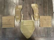 Marpat Coyote Tan Molle Ballistic Armor Panel Covers Set For Soft Body Armor Set