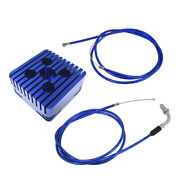 Blue Cnc Square Cylinder Head And Throttle Line For 80cc Engine Motorized Bicycle