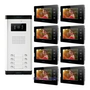7 Hands-free Video Door Entry Intercom Kit Support Electric Lock For House/flat