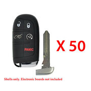 Remote Pad Smart Key Fob Case Shell 5b Compatible With Dodge Jeep Y159 50 Pack