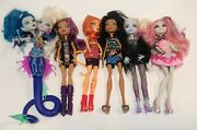 Monster High Doll Lot Clawdeen Invisi Billy Draculaura Lagoona Neighthan Rot