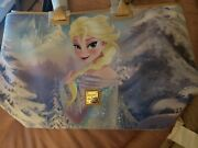 Disney Dooney And Bourke Frozen Anna And Elsa Reversible Tote Bag Purse New