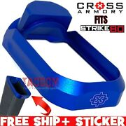 Cross Armory Blue Fits P80 And Strike80 Aluminum Flared Magwell Pf940v2 Pf940c