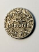 Rare Groveton Nh Trade Token J. M. Couture Gf 5andcent In Trade Not On Tc