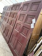 Set Of 3 - Stunning - Reclaimed Antique Huge Doors - Gothic Panelling Wall