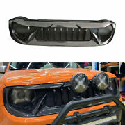 For Jeep Renegade 2015-18 Abs Carbon Fiber Front Upper Bumper Mesh Grill Grille