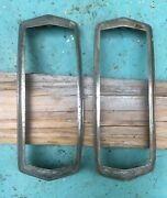 1940 Lasalle Series 52 Chrome Tail Light Bezels Guide 30023 30024 Right And Left