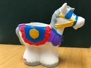 2002 Fisher Price Little People Kings Castle Horse Figure White Gray Mane Royal