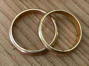 Vintage Mens And Womens Yellow Gold Matching His And Hers Wedding Bands Rings Set