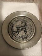 Camp David Presidential Retreat Pewter Plate George W Bush White House - Limited