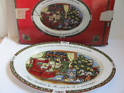 Portmeirion Studio - A Christmas Story By Susan Winget- 16 Oval Serving Platter