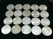 Us Peace Silver Dollar Beautiful Roll 20 Coins 1922 - 1925