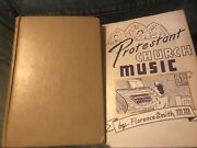 Lot Of 2 Antique Christian Books - Protestant Church Music And Strauss