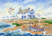Catch O The Day Whitstable Ready To Frame Print From A Watercolour By D Bailey