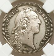 1752 Ad Louis Xv Silver Restrike Franco-american Jeton Ngc Ms63 Warm And Lustrous