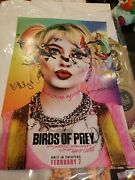 Birds Of Prey Signed Poster Harley Quinn Nycc 2019 Dc
