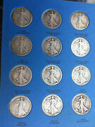 Walking Liberty Half Dollar Set 1916-1947 Missing Only One  64 Coins  Halves